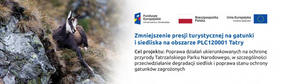 Zmniejszenie presji turystycznej na siedliska i gatunki na obszarze PLC 120001 Tatry